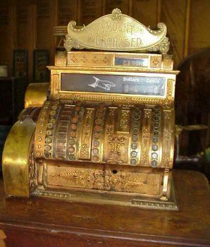 Rare Brass Cash Register 9-Drawer Model