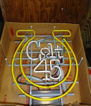 Vintage Colt 45 Neon Sign Mint in Original Box Excellent Rare