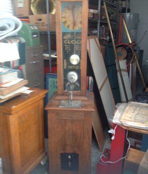 Exhibit Supply 1-Cent Original Grandfathers Clock Strength c1920