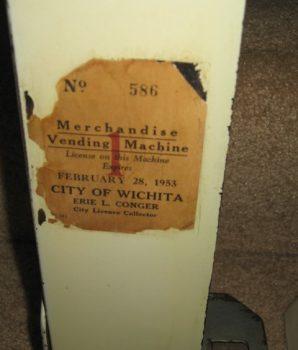 Northwestern Corp Porcelain Match Dispenser 1 cent  circa 1920s