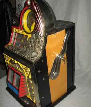 Rol-A-Top COIN FRONT 5c Antique Slot Machine