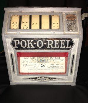 Pok-O-Reel Trade Stimulator Amusement Machine 1930