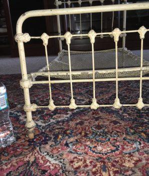 Antique Iron Ornate Bed Salesman Sample Fleur-De-Lis Style