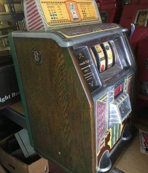 Caille Bros. Silent Sphinx Reserve Jackpot Slot Machine c1932