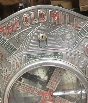 Old Mill Wind Mill Gum Candy Vendor Machine by Mutoscope Reel Co.