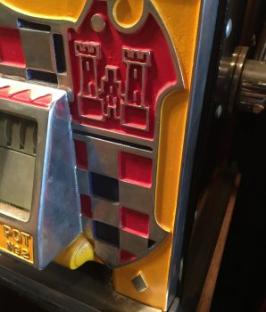 Watling Rol A Top Checkerboard Castle Coin Front Twin Jackpot 5ct Slot Machine