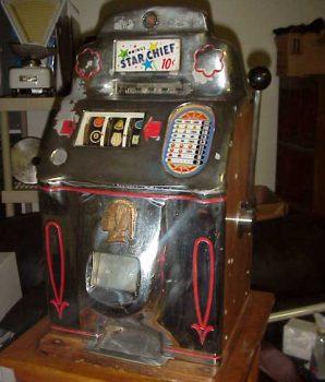 Jennings 10 cent Chrome Star Chief Antique Slot Machine