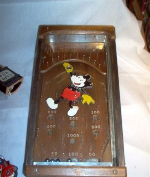 Antique Mickey Mouse Pinball Machine